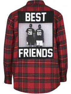 Les (Art)ists Long Sleeves Classic Red Tartan Best Friends Shirt
