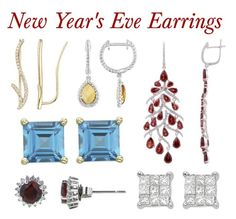 """""""Earrings for the New Year's Eve Celebration"""" by jewelryo2o ❤ liked on Polyvore featuring women's clothing, women's fashion, women, female, woman, misses and juniors"""