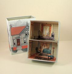 Number 27 Victorian House Printable Match by PaperCottagePrinties.  Find the Match Box for only.20 cents