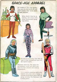 Space Age Apparel ~ For work and play