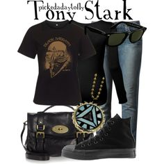 """Tony Stark"" by pickedadaytofly on Polyvore"