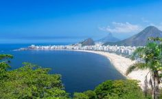 Copacabana-stranden ved Rio i Brasilien