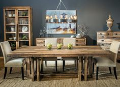 A Full Guide for Rustic Dining Table - A rustic dining table is a piece of furniture that creates a natural and country atmosphere. And this atmosphere is important because it helps your family and guests feel cozy and comfortable. This table can be made from different types of wood like pine, ash, oak or cedar. Rustic dining table... - Dining Table, Rustic Dining Table - dining room tables