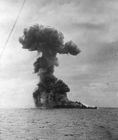 23 September 1944 - Battle of Leyte Gulf begins - Largest sea battle in history. Americans experience more kamikaze attacks from Japanese aircraft; the USS Princeton is hit with grave damage. - USS Princeton explodes. Of Princeton's crew, 108 men were killed, while 1,361 survivors were rescued by nearby ships. USS Princeton was the largest American ship lost during the Battle of Leyte Gulf.