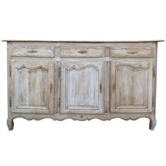 Early 19thc Louis Xv Style French Enfilad, Stripped