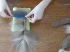 How To Make a Needle Felted Wool Feather - YouTube