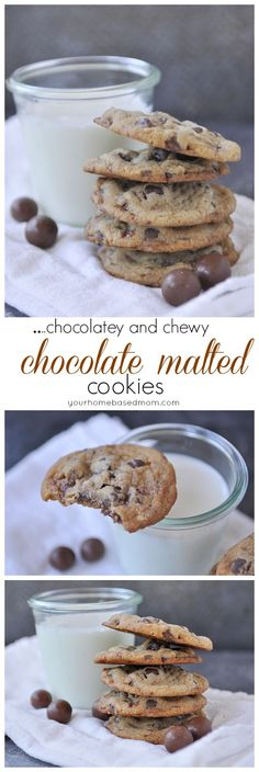 Chocolate Malted Cookies are chocolately and chewy and delicious!