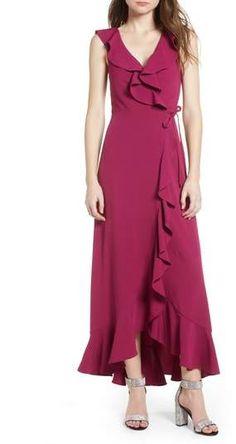 Leith Ruffle Wrap Maxi Dress. #affiliate #dress #maxidress #nordstrom