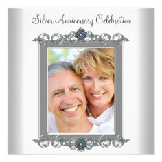 Teal Blue Photo Silver 25th Anniversary Party Custom Announcements in each seller & make purchase online for cheap. Choose the best price and best promotion as you thing Secure Checkout you can trust Buy bestThis Deals          Teal Blue Photo Silver 25th Anniversary Party Custom Ann...