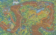 Huck Finn's journey 3 by Andrew DeGraff #map #usa #Mississippi