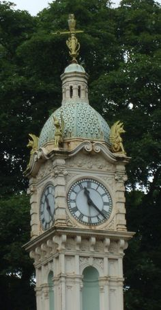 Notice the owl on top. Oakwood Clock, Leeds, England