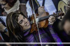 Playing violin at verdiales