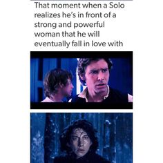 This is not the only scene where Kylo imitates Han, and I cannot praise Adam's acting enough.