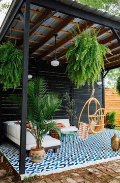 Did you want make backyard looks awesome with patio? e can use the patio to relax with family other than in the family room. Here we present 40 cool Patio Backyard ideas for you. Hope you inspiring & enjoy it . Backyard Patio Designs, Diy Patio, Landscaping Design, Backyard Ideas For Small Yards, Backyard House, House With Garden, Modern Backyard Design, Backyard Decorations, Rustic Patio
