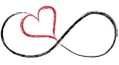 Infinity Love symbol-idea for tattoo to represent Pete & the kids!