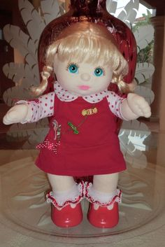 My Child Canadian Baby Girl With Holiday Embroidered Outfit