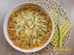 Zucchini clafoutis with mozzarella Vegan Junk Food, Vegan Sushi, Sicilian Recipes, Sicilian Food, Weird Food, Healthy Dinner Recipes, Healthy Food, Good Food, Food And Drink