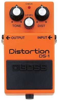 Boss Distortion Pedal: Add some weight to your sound with this pedal, which delivers a smooth distortion. You can get everything from fuzz to heavy metal distortion. Joe Satriani, Guitar Effects Pedals, Guitar Pedals, Guitar Amp, Cool Guitar, Guitar Chords, Death Metal, Hard Rock, Roland Boss