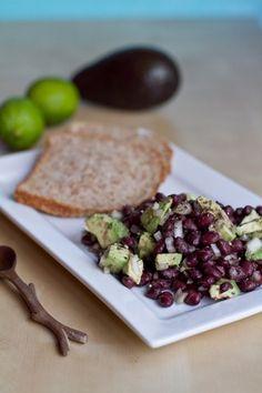 Easy Avocado-Lime Black Bean Salad    Avocado & Black Beans......my favorites