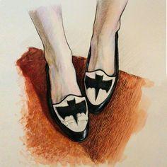 I signed in taste drawing shoes. What do you think about this pair of #halloween shoes? Вошла во вкус, что называется, обувь рисовать оказывается очень интересно! Как вам такие на #хэлоуин? #рисунок #иллюстрация #арт #карандаш #ижевск #осень #fall #artfid