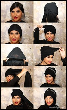 Beauties of the golden era like Sophia Loren and Audrey Hepburn have all sported the turban in lavish style. Turban Tutorial, Hijab Style Tutorial, Turban Hijab, Modern Hijab, Head Wrap Scarf, Turban Style, Clothing Photography, Islamic Fashion, Scarf Hairstyles