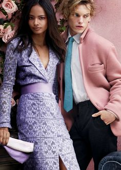 Malaika Firth & Jamie Campbell Bower for Burberry Prorsum Spring/Summer 2014 Advertising Campaign, ph. by Mario Testino