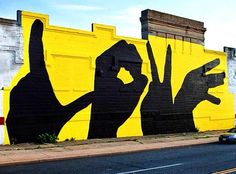 "Street Art News Magazine: ""Love"" the work of Michael Owen in Baltimore 3d Street Art, Urban Street Art, Murals Street Art, Graffiti Murals, Amazing Street Art, Street Art Graffiti, Urban Art, Graffiti Artists, Graffiti Lettering"