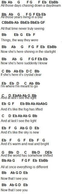 Flute Sheet Music: I See The Light