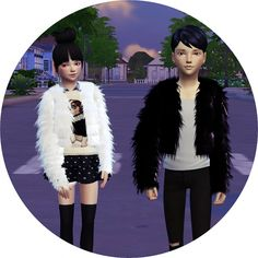 Child Acc Fur Jacket at Marigold via Sims 4 Updates