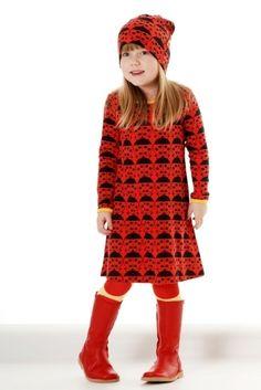 Duns Dress LS, Ladybug Red