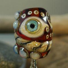 Eye See You - Handmade Lampwork Focal Bead