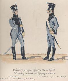 l'Armée de Joachim Murat, roi de Naples Bataillon du train ses équipages 1813-1815 Sous-lieutenant Conducteur