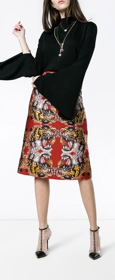 Gucci Lurex Jacquard Skirt