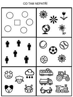 Cernobile ukolky na premysleni:-) Critical Thinking Activities, Kids Learning Activities, Preschool Worksheets, Visual Perception Activities, Sudoku, Learning Support, Hidden Pictures, Activity Board, Speech Therapy Activities