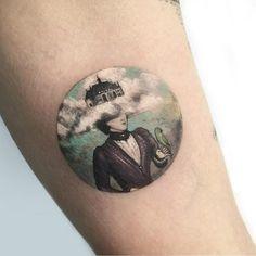 Miniature Tattoo Scenes by Eva Krbdk