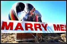 Hot Air Balloon Marriage Proposal