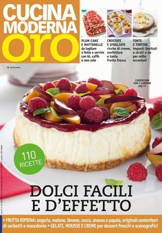 """Find magazines, catalogs and publications about """"cucina moderna"""", and discover more great content on issuu. Make It Simple, Buffet, Cheesecake, Cooking Recipes, Desserts, Magazines, Sicilian, Books, Gold"""