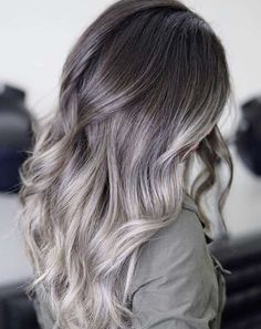 Cool balayage is one of the hottest hair color trends this season. Check out 9 other shades of refreshing spring hair color! Hair Color Balayage, Hair Highlights, Bold Hair Color, Unique Hair Color, Bright Hair, Ombre Color, New Hair Colors, Silver Blonde Hair, Silvery Purple Hair
