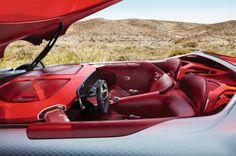 Renault Trezor 2016 habitacle rouge