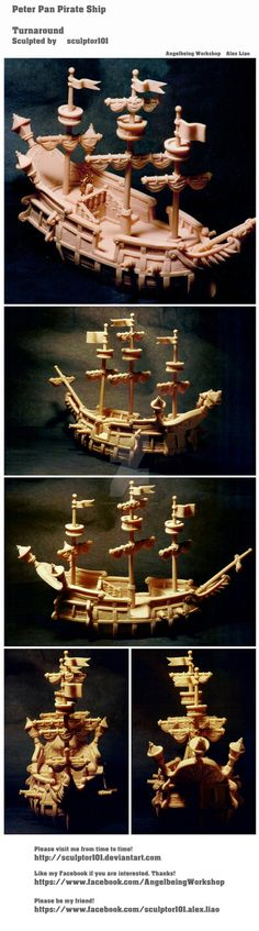 Peter Pan Pirate Ship by sculptor101