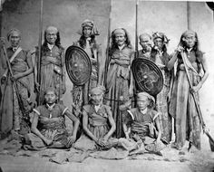 A group portrait of chiefs of the island of Lombok