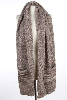 Super soft knit pocket scarves are warm and functional!