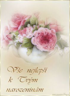 Narozeninové pohlednicové   Tvoření Floral Wreath, Wreaths, Decor, Decoration, Decorating, Door Wreaths, Dekorasyon, Deco Mesh Wreaths, Dekoration