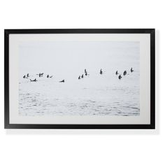Mono Surfers Digital Print by Anthony Glick