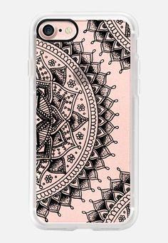 Pretty Lace Mandala Flowers (Transparent Black) iPhone 7 Case by Laurel Mae   Casetify