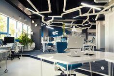 Attraktives Büro wie ein Raumschiff eingerichtet - futuristisches Büro wie ein Raumschiff eingerichtet nachhaltig
