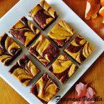 Vegan Pumpkin Cheesecake Swirl Brownies 4