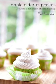 Apple Cider Cupcakes with Apple Cider Cream Cheese Frosting | Real Housemoms