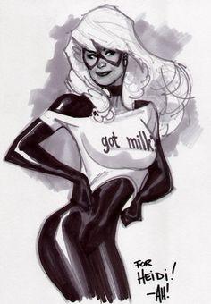 Got Milk? Black Cat by Adam Hughes