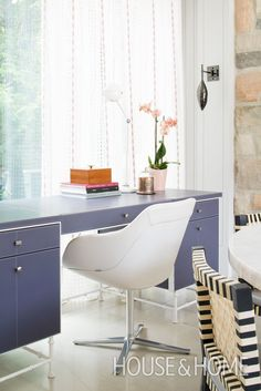 A smart trick with small spaces is using a time-specific room for multiple…